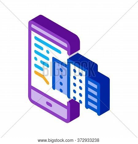 Telephone Mode Of Reality Icon Vector. Isometric Telephone Mode Of Reality Sign. Color Isolated Symb
