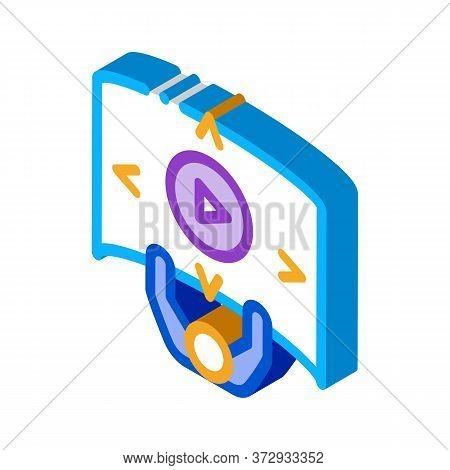 Comprehensive Choice Man Icon Vector. Isometric Comprehensive Choice Man Sign. Color Isolated Symbol