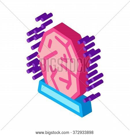 Healing Gem Icon Vector. Isometric Healing Gem Sign. Color Isolated Symbol Illustration