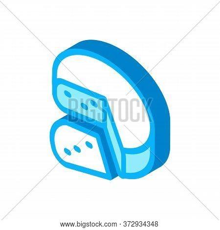 Mozzarella Cheese Head Icon Vector. Isometric Mozzarella Cheese Head Sign. Color Isolated Symbol Ill