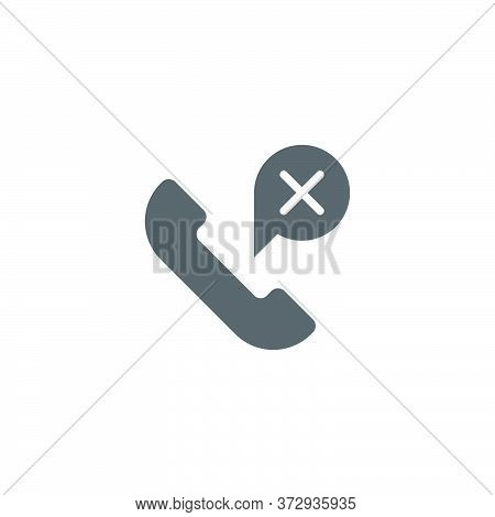 Missed Phone Call Vector Icon Symbol Isolated On White Background