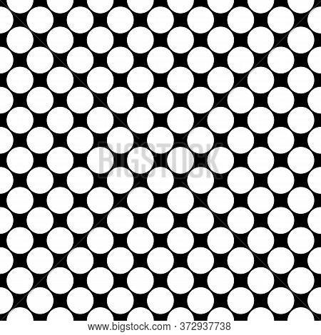 Seamless Pattern. Big Dots Wallpaper. Circles Ornament. Vector Image. Polka Dot Motif. Circular Figu