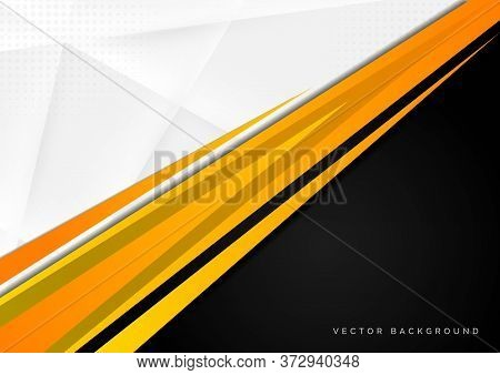 Template Corporate Concept Yellow Black Grey And White Contrast Background. You Can Use For Ad, Post