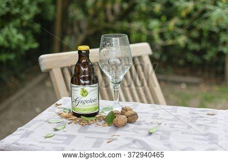 Sint Gillis Waas, 22 May 2020, Gageleer Craft Belgian Beer Sour White No Hops Is A Top Fermented Whe