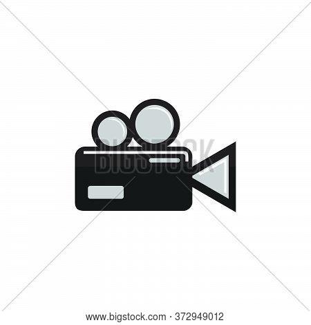 Camcorder Icon Logo Design Vector Cartoon Template