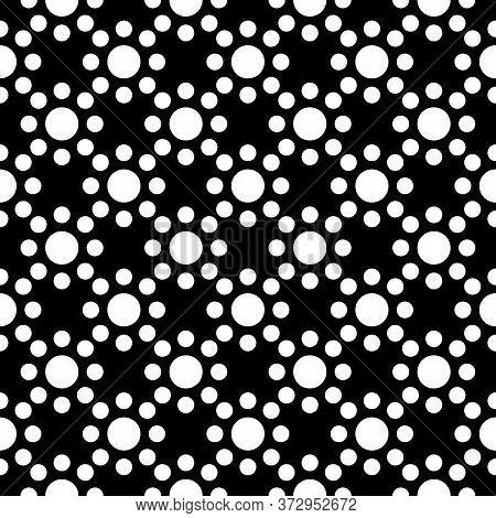 Circles Seamless Pattern. Dots Print. Polka Dot Ornament. Circular Figures Backdrop. Rounds Backgrou