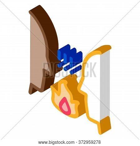 Interracial Conflict Icon Vector. Isometric Interracial Conflict Sign. Color Isolated Symbol Illustr