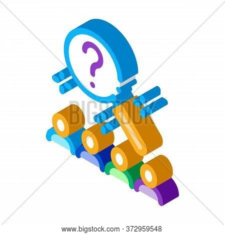 Research Audience Question Icon Vector. Isometric Research Audience Question Sign. Color Isolated Sy