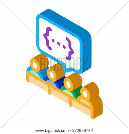 Audience Expresses An Opinion Icon Vector. Isometric Audience Expresses An Opinion Sign. Color Isola