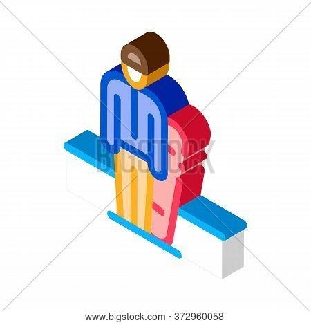 Snowboarder Sportsman Icon Vector. Isometric Snowboarder Sportsman Sign. Color Isolated Symbol Illus