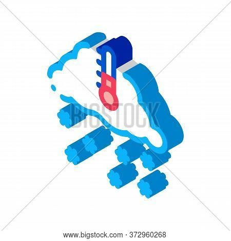 Winter Low Temperature And Snow Icon Vector. Isometric Winter Low Temperature And Snow Sign. Color I