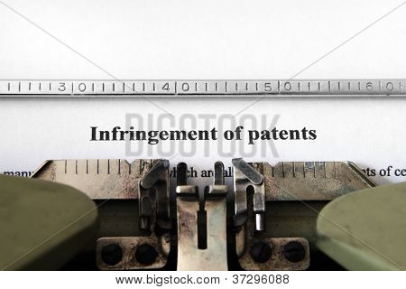 Infringement Of Patents