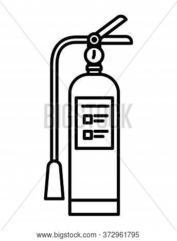 Extinguisher Design, Emergency Rescue Save Department 911 Danger Help Safety And Aid Theme Vector Il