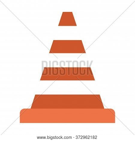Striped Cone Design, Emergency Rescue Save Department 911 Danger Help Safety And Aid Theme Vector Il