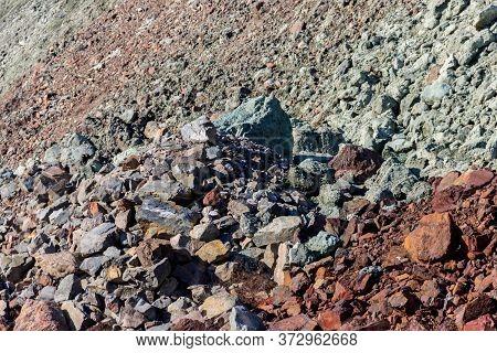 Close-up Of A Slag Heap Of Iron Ore Quarry