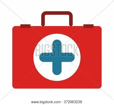 Medical Kit With Cross Design, Emergency Rescue Save Department 911 Danger Help Safety And Aid Theme
