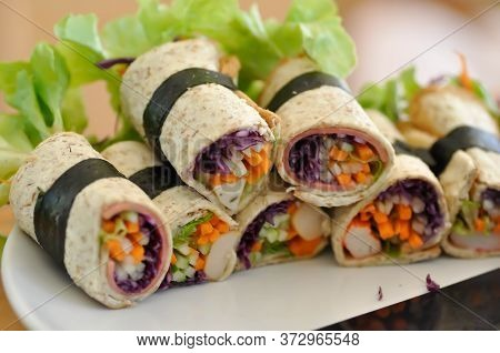 Bread Roll, Rolls Or Vegetable Roll Dish