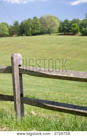 Wood Split Rail Fence