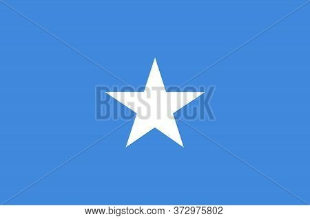 High Detailed Vector Flag Of Somalia. Somalia Flag, Official Colors And Proportion Correctly.