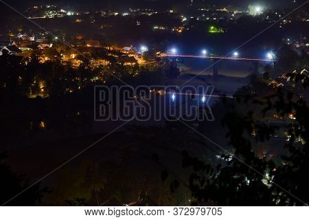 The City Of Luang Prabang At Night Laos