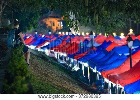 Luang Prabang Night Market Tents,  Louangphabang Province, Laos