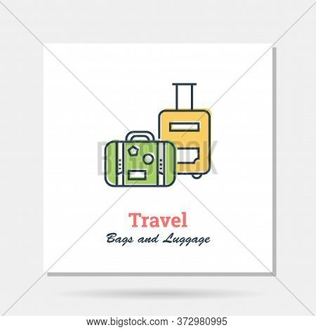 Vector Simple Company Logo Example - Bag And Luggage