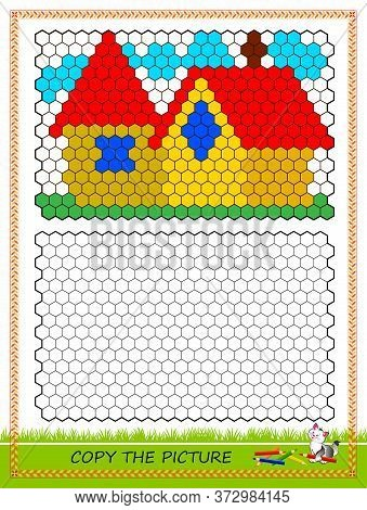 Educational Page For Kids. Copy Picture. Printable Worksheet For Children School Textbook. Draw And