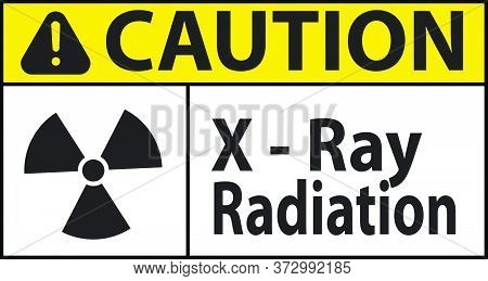 Caution X Ray Radiation Sign Vector New Design