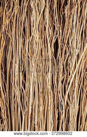 A Textured Natural Background Made Of Natural Materials Close-up