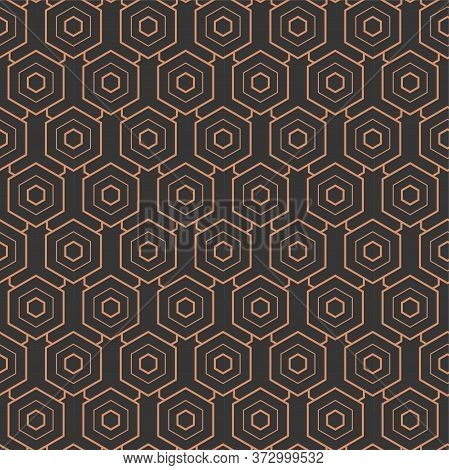 Seamless Classic Graphic Hex, Swatch Texture. Repeat Minimal Vector Diagonal Repetition Pattern. Rep