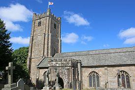 Chagford Church And Graveyard In Dartmoor, Devon