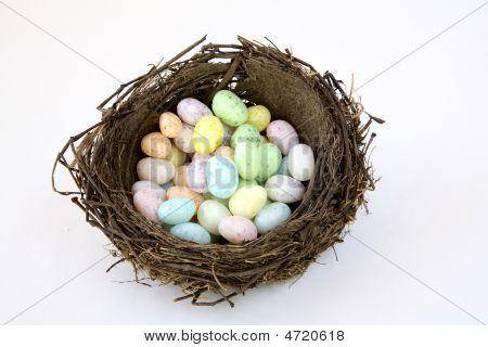 Birds Nest Of Jelly Bean Eggs.