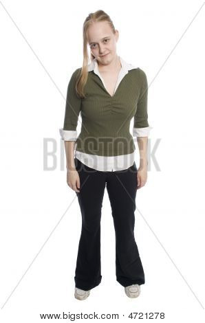 Woman In Casual Dress