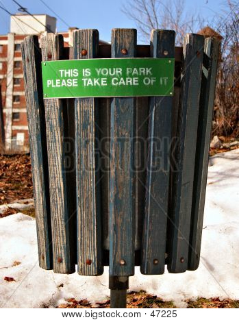 Park Trash Can