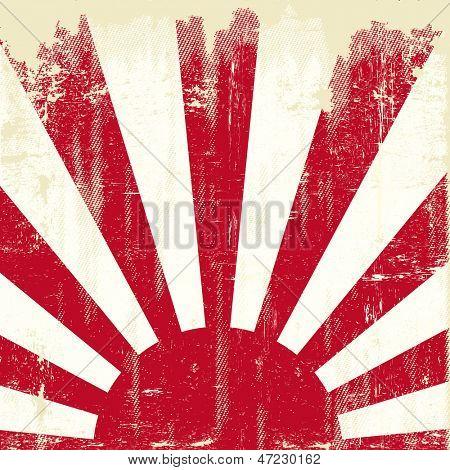 Bandera de Japón cuadrados grunge. Una vieja bandera de grunge de Japón para ti