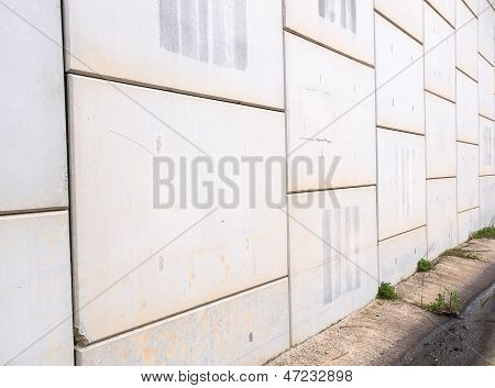 Concrete background in diagonal composition outdoors in diagonal composition poster