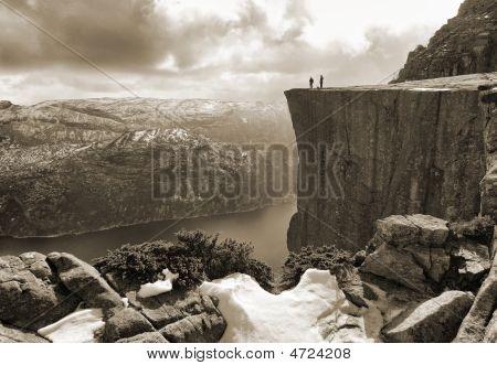 Pulpit Rock Sepia