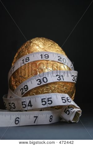 1 Easter Egg Gold  Diet Tape Measure 2
