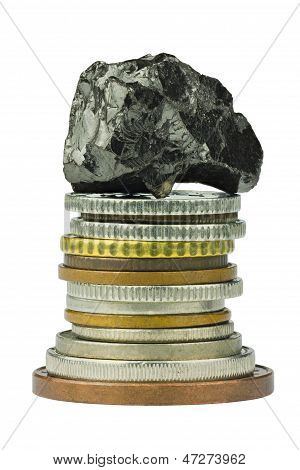 Coin Stack With Coal On Top