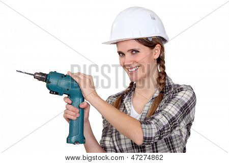 Woman with a drill