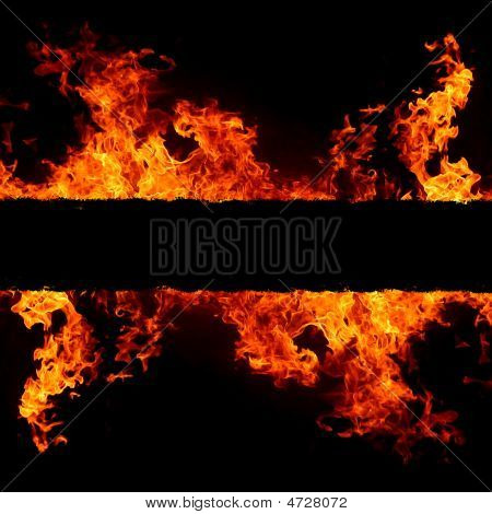 Abstract Background With Vivid Hot Fire Flames