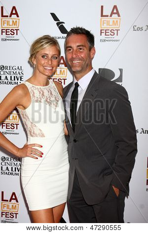 """LOS ANGELES - JUN 23:  Monica Richards, Jay Harrington arrives at  """"The Way Way Back"""" Premiere as part of the Los Angeles Film Festival at the Regal Cinemas on June 23, 2013 in Los Angeles, CA"""