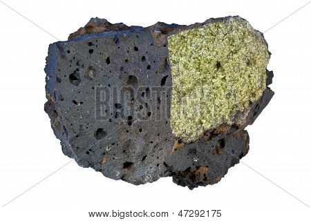 The sample is from Hawaii. It is a fragment of 200 years old lava flow of Kohala volcano. poster