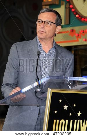 LOS ANGELES - JUN 24:  Bob Iger at  the Jerry Bruckheimer Star on the Hollywood Walk of Fame  at the El Capitan Theater on June 24, 2013 in Los Angeles, CA