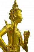 The golden graven image on Holding a sword the golden graven image on white background poster