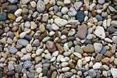 Pebbles on a path for use as and interesting texture or background. poster