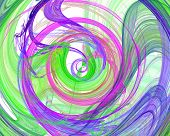 colorful green blue pink and purple spiral design image poster