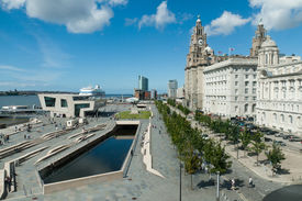 Liverpool Pierhead, part of the UNESCO world heritage site