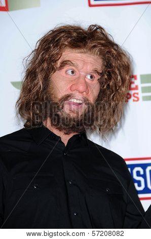 GEICO Caveman at VH1 Divas Salute The Troops, Marine Corps Air Station Miramar, San Diego, CA. 12-03-10