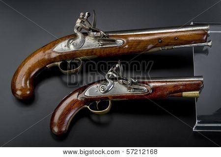 18Th Century British Flintlock Pistols.